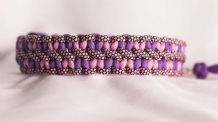 Little hearts collar - Lavender Pink/Lilac/Pink Diamonds